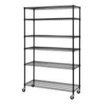 24 Deep Modular Wire Shelving Rack With Wheels , Chrome Wire Storage Shelves