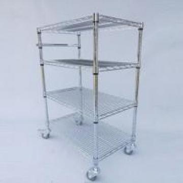 Easy Moving Chrome Wire Shelving With Carts NSF & SGS Approval For Organizer