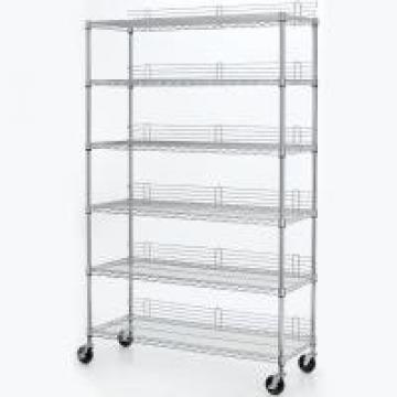 6 Layers 18 X 24 Wire Shelving Heavy Duty Movable Wire Shelving Units With