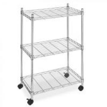 """Zinc Plated 3 Tier Wire Shelving Unit 18"""" X 18"""" Catering , Cold Room Strong Wire"""