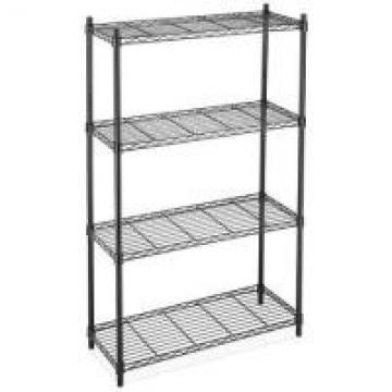 """Black Industrial Wire Shelving For Freezer and Cold Room 18"""" X 24"""" With 4"""