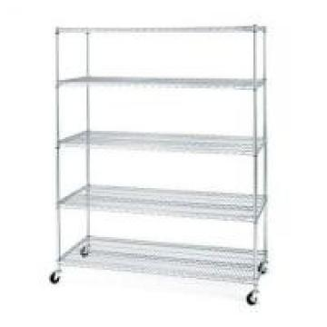 Medical Storage Stainless Steel Mobile Shelving / Rolling Wire Storage Racks 5