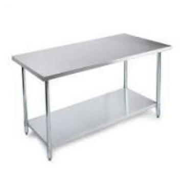 Standard Size Stainless Steel Work Bench Table For Warehouse Load Weight 400lbs