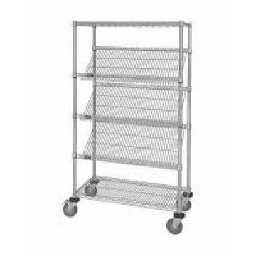 OEM Commercial Wire Shelving , 5 Layer Steel Slanted Shelving Unit For Company