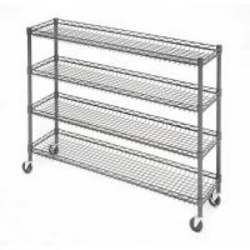 OEM Supermarket 4 Tier Metal Rolling Cart With Wheels And Baskets