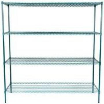 Warehouse Heavy Duty Wire Shelving Unit Dark Green 4 Tier Easy To Assemble