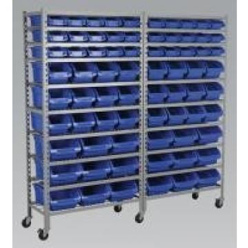 Bin Storage Commercial Wire Shelving System 10 Shelves With 5 Inch Caster