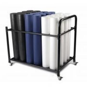 Yoga Mat Fom Rolling Wire Shelving Units , Commercial Storage Racks With Wheels