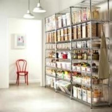 NSF Approved Pantry Metal Commercial Kitchen Wire Shelving Custom Size