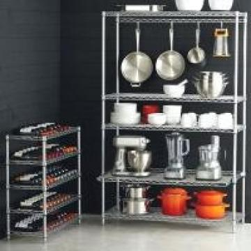 Kitchen Cookware Smart Wire Chrome Finish Commercial Shelving Racks