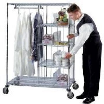 "Laundry Hotel Cart Commercial Wire Shelving 24"" x 48"" x 60"" , Steel Shelving"