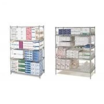 "42"" x 60"" Commercial Wire Shelving Pharmacy Storage Racking Solutions"