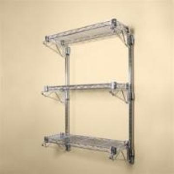 """14"""" Deep Wall Mounted Cantilever Brackets Adjustable Residential Shelving"""