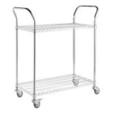 Chrome Wire Shelving Parts , Wire Shelf Trolley Utility U Shape Handles