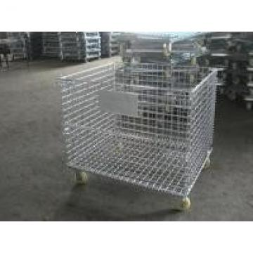 Steel U Shape Buckle Collapsible Wire Container For Distribution