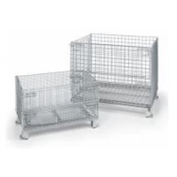 Custom Color Stackable Wire Mesh Container For Warehouse Storage