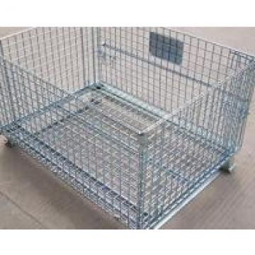 """39""""Wx31.5""""Lx34""""H Bulk Wire Mesh Container With Casters For Auto Parts Storage"""