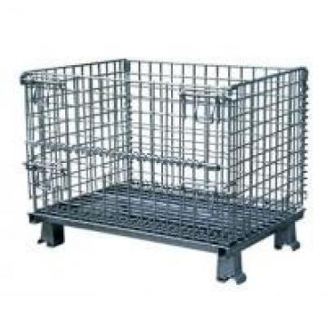 Durable Collapsible Wire Container , Steel Storage Bins For Auto Parts
