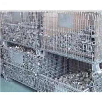 Stackable Heavy Load 1000kg Storage Wire Baskets For Bulk Materials