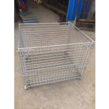 SS304 Hygiene Food Industry Stackable Storage Baskets Easily Moving