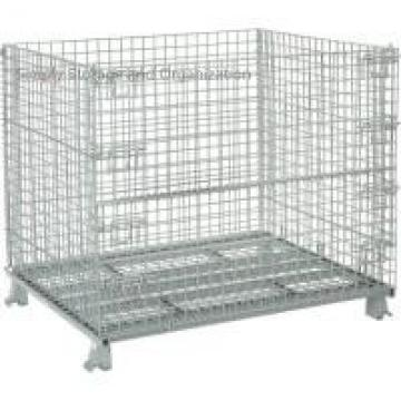 Medium Duty 48x40 Foldable Collapsible Wire Container 3000 Lb Capacity