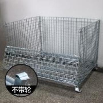 Hot Dipped Galvanized Industrial Collapsible Wire Container Products , Stackable