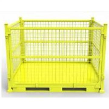 Heavy Duty Colorful Material Handling Equipment Folding Wire Mesh Container
