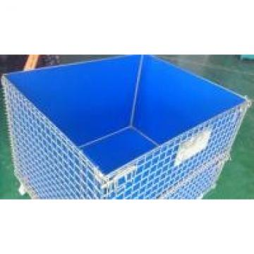 Customize Non-Standard Collapsible Wire Container With PP Liner For Warehouse