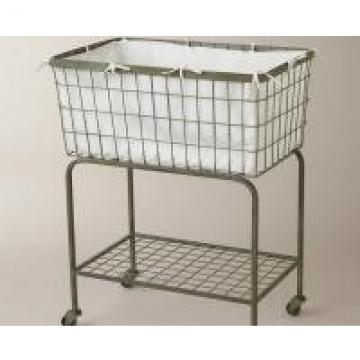 2 Tier Heavy Gauge Iron Wire Laundry Basket House Hold Organizer 810x400x730 mm