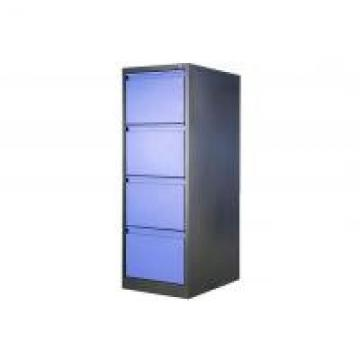 Modern Colorful 4 Drawers Lockable Metal Vertical File Cabinets For Legal Size