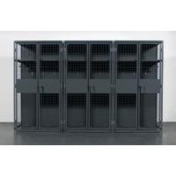 Military , Gym Heavy Duty Storage Locker , Steel Ventilated Wire Mesh Partitions