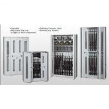 Heavy Duty Wall Cabinets With Perforated Security Gates , Military Weapons