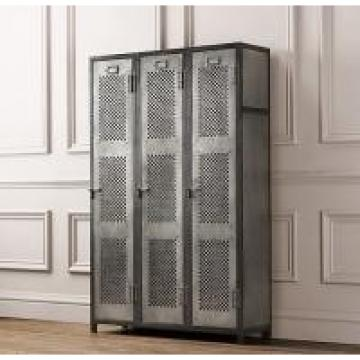 Perforated Athletic Heavy Duty Metal Storage Cabinet Lockers With Recessed