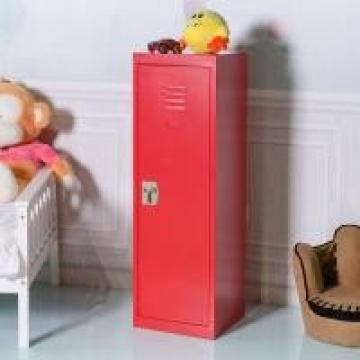 Kids Metal Locker Single Tier With Hanging Rod Knock Down Structure