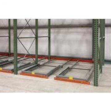 Gravity Movable Push Back Pallet Racking For Cold Warehouse Storage