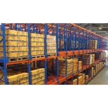 Multi Level Push Back Pallet Rack System With Steel Movable Trolley