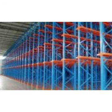 Mixed Color Red and Blue Double Deep Reach Pallet Rack 5 to 8 Layers