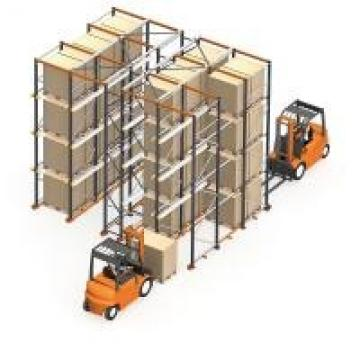 Double Way Entry Heavy Duty Storage Racks For Warehouse / Factory
