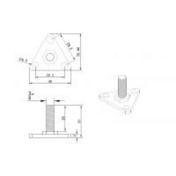 """White Wire Shelving Parts , SS 304 Adjustable Leveling Bolt Down Foot For 1"""""""