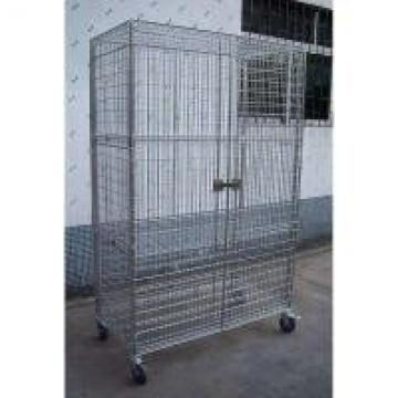 Foldable Stainless Steel Wire Security Storage Truck For Factory Spare Parts