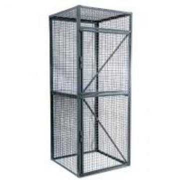 Durable Wire Utility Cart For Workshop , One Shelf Steel Wire Security Cage