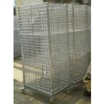 Zinc Plated Mobility Chrome Wire Security Carts / Tools Storage Logistics