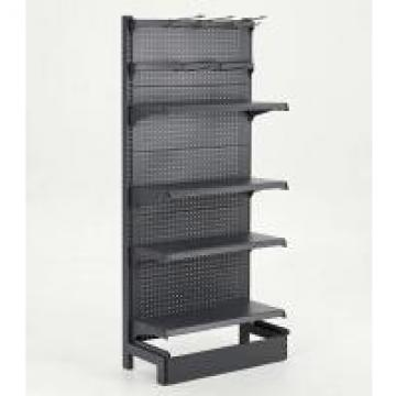 Quick Access Black Pegboard Supermarket Display Racks Four Layers