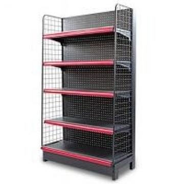 5 Layers Q235 Steel Black Display Shelf With End Unit For Retail Stores