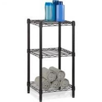 Office Commercial Wire Shelving Towel Toiletries Carbon Steel Black Epoxy