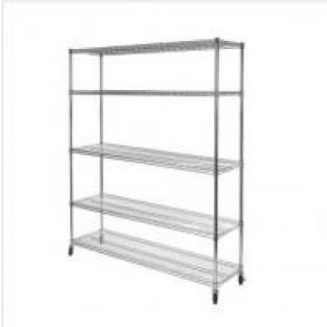 """Mobile Commercial Wire Shelving Rack For Outdoor Products 54"""" W X 14"""" D"""