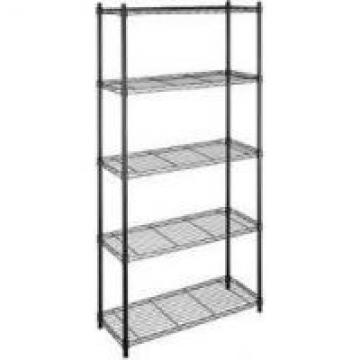Black Commercial Wire Shelving Unit Height Adjustable With Wheels For Food