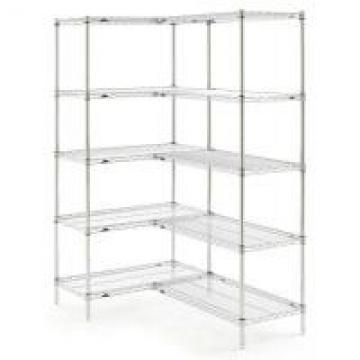 Dry Or Wet Commercial Wire Shelving / Stainless Steel Wire Shelves Chrome Finish