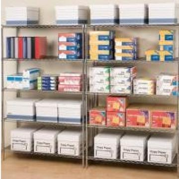 Silver Color Classic Commercial Wire Shelving / Metal Wire Racks For Storage