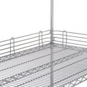 Chrome Finish Wire Shelving Parts Shelf Ledges , Stainless Steel Shelving Parts